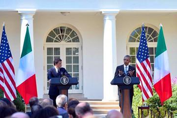 奥巴马与伦齐举行联合新闻发布会