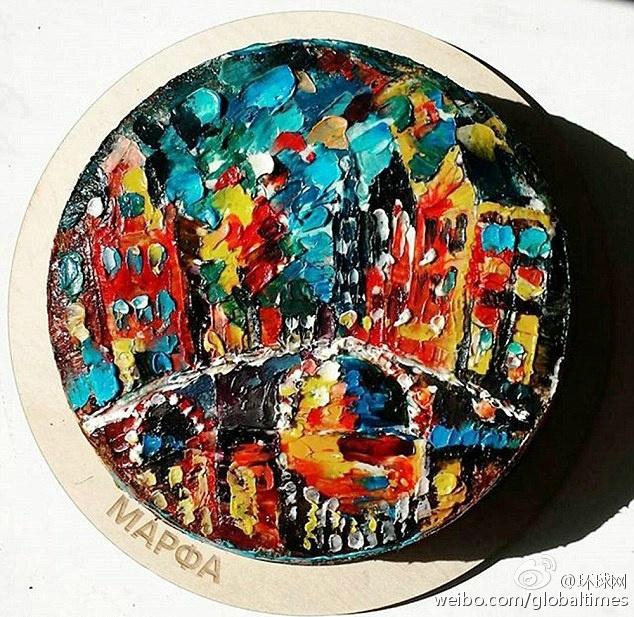 把蛋糕做成了比油画还美的艺术品……