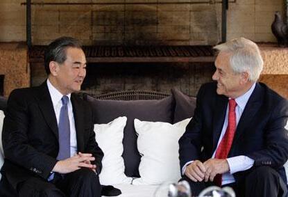 王毅会见智利当选总统皮涅拉