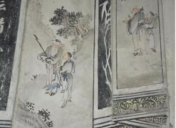 """在略显老旧的潮汕民居里,却""""藏""""着一幅幅精妙绝伦的壁画作品……"""
